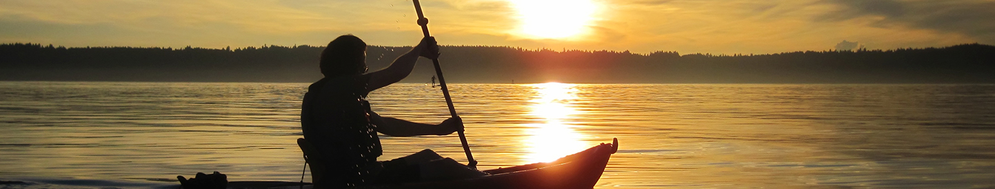 Kayaker on the Hood Canal